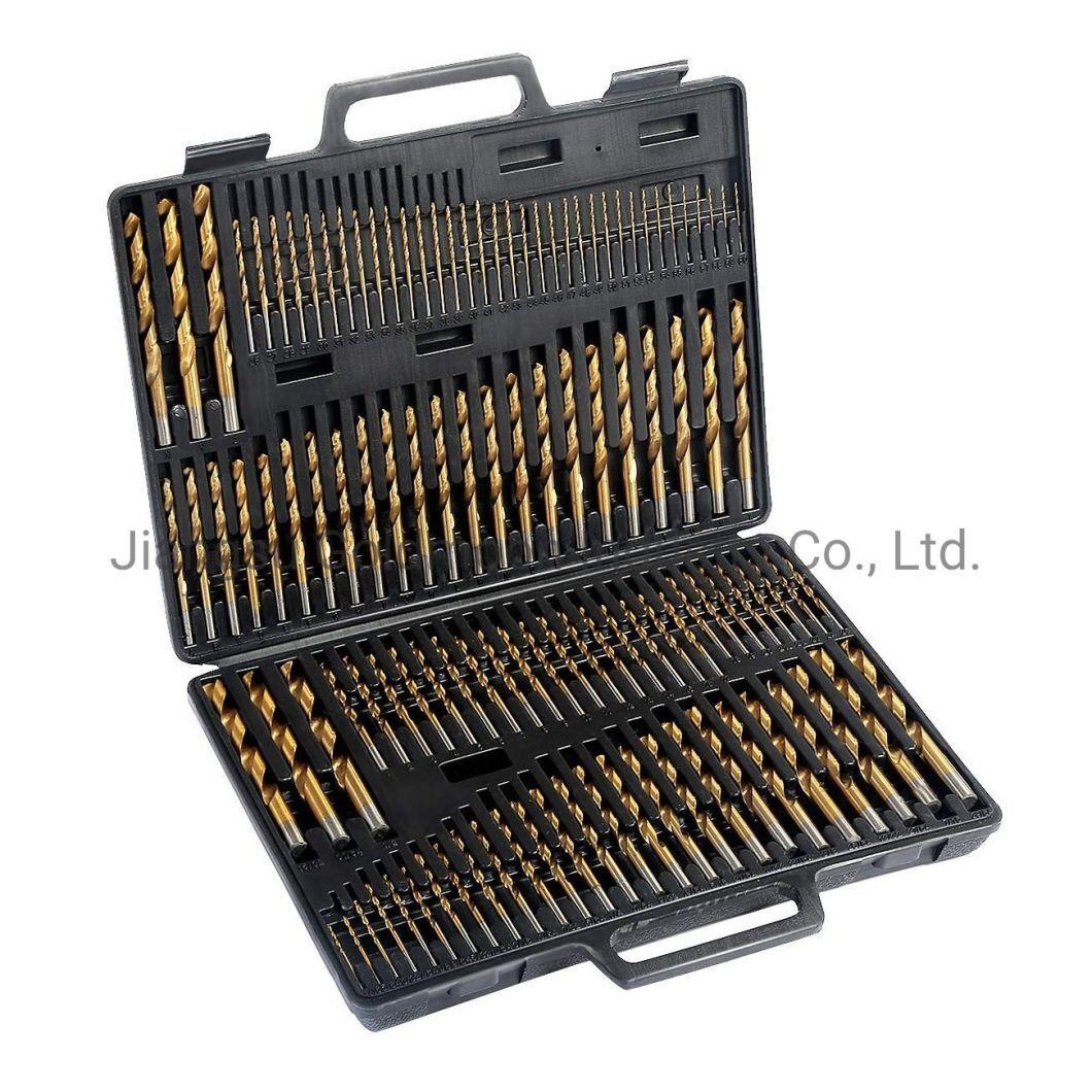 170PCS DIN338 HSS Driver PDC Twist Diamond Core broca definida em caixa de metal