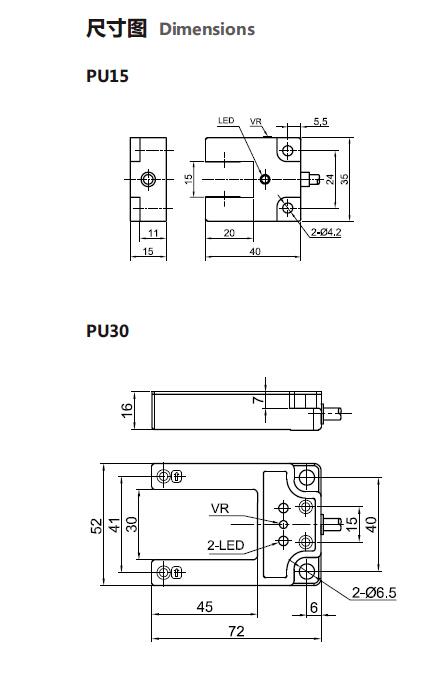 Alumininum Inductive Proximity Switch Sensor Position Sensor (PU15)