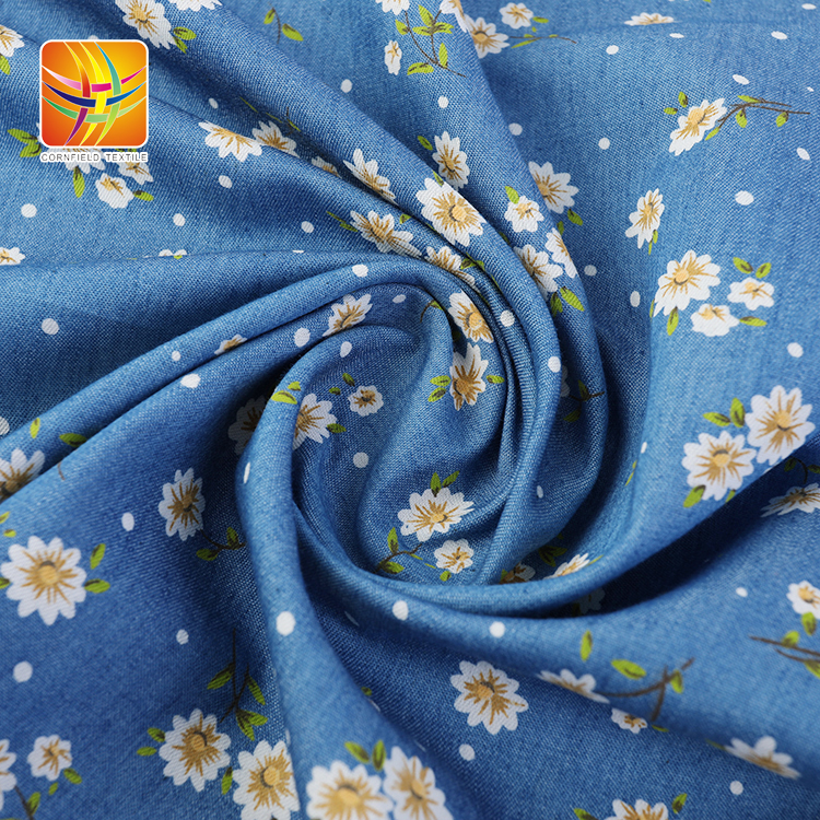 Denim Print Fabric for Garments