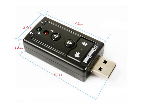 7.1 USB Stereo Audio Adapter External Sound Card