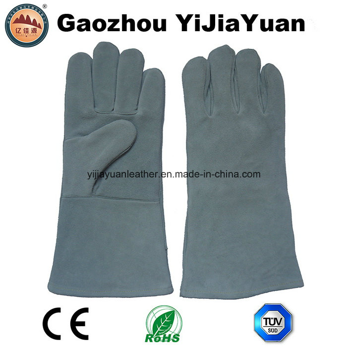CE EN407 Leather hand welding protection safety work gloves