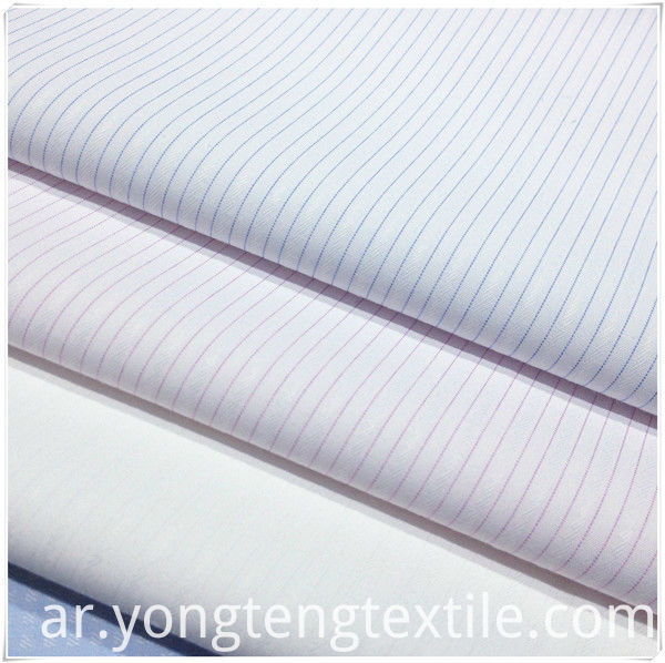 Classic stripe business shirt fabric