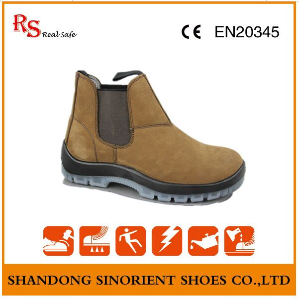 Cow Nubuck Leather TPU Sole No Lace Blundstone Shoes RS009