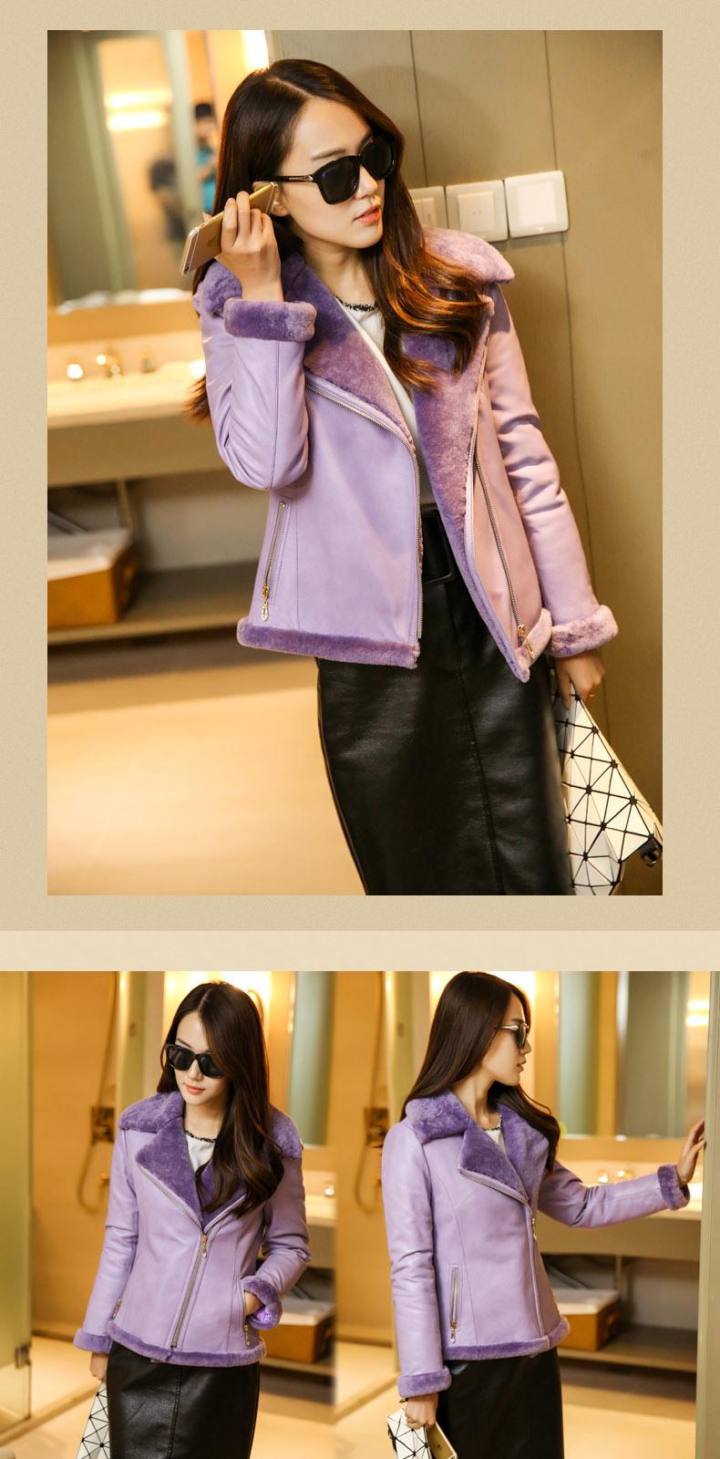 Fashion Women's Shearling Coat Short Style