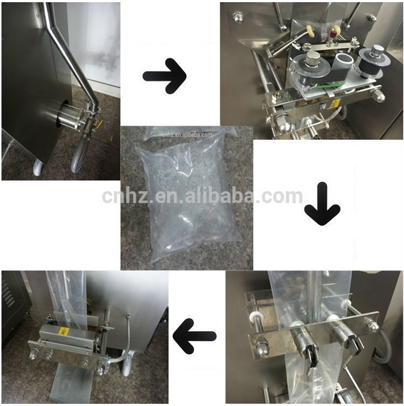 Factory Fostream Small Scale Sachet Pure Water Filling Machinery with 220V