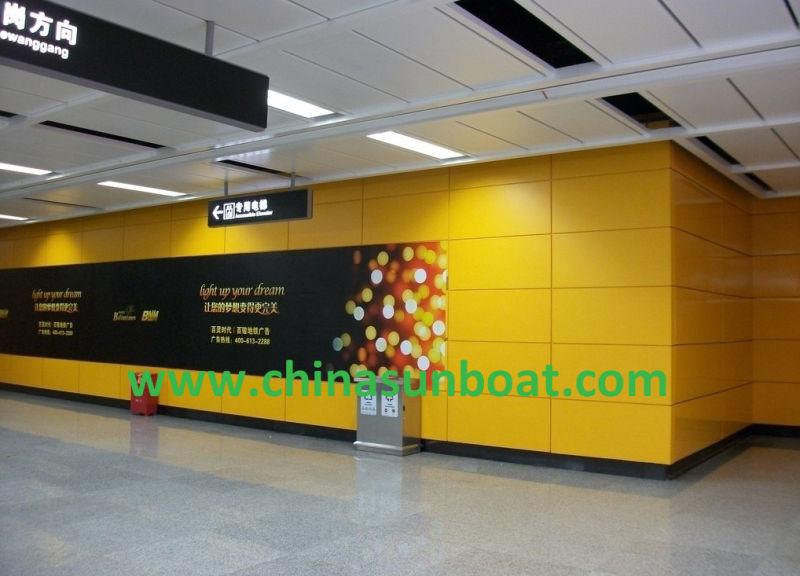 Subway Station Walls/Enamel Wall Space /Enamel Panel /Enamel Steel Sheet