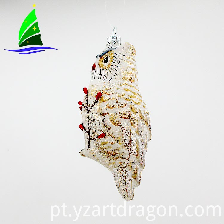 Handmade Bird Shape Glass Ornaments