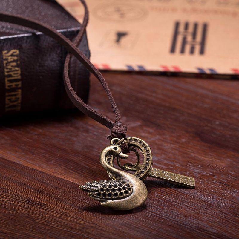 2017 Women Pendant Vintage Necklace Fashion Vintage Leather Jewelry