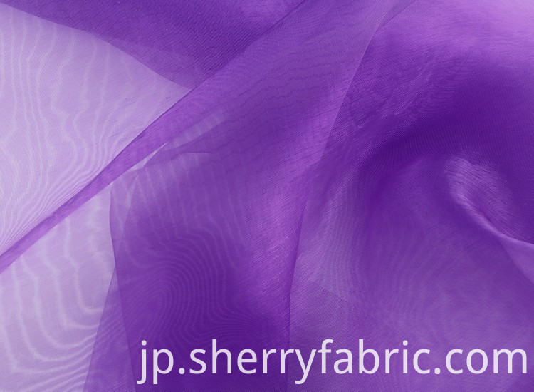 cheap organza fabric bridal wedding fabric