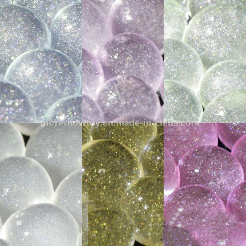 Golden Glitter Crystal Soil Water Beads Centrepieces Wedding Decorations