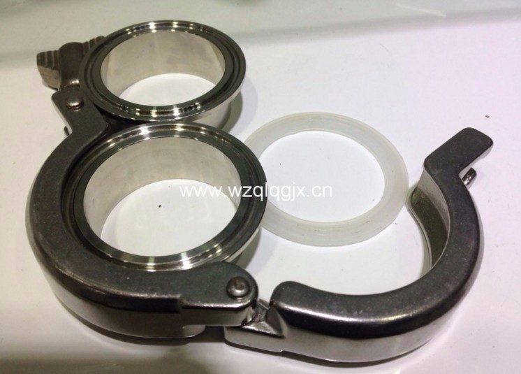 304 or 316 Sanitary Stainless Steel Hose Clamp for Oil Pipe Clamps