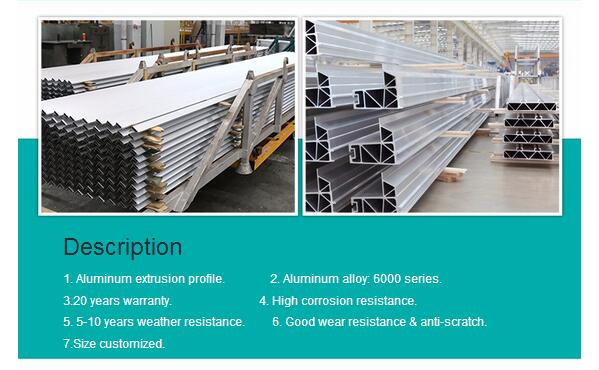Building Material 6063 6061 Alloy Extruded Color Power Coating Aluminium Profile