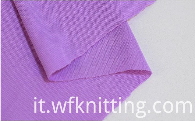 Pure Color Interlock Knit Fabric