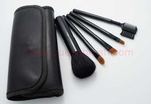 Free Sample 5PCS Black Nylon Cosmetic Brush Set