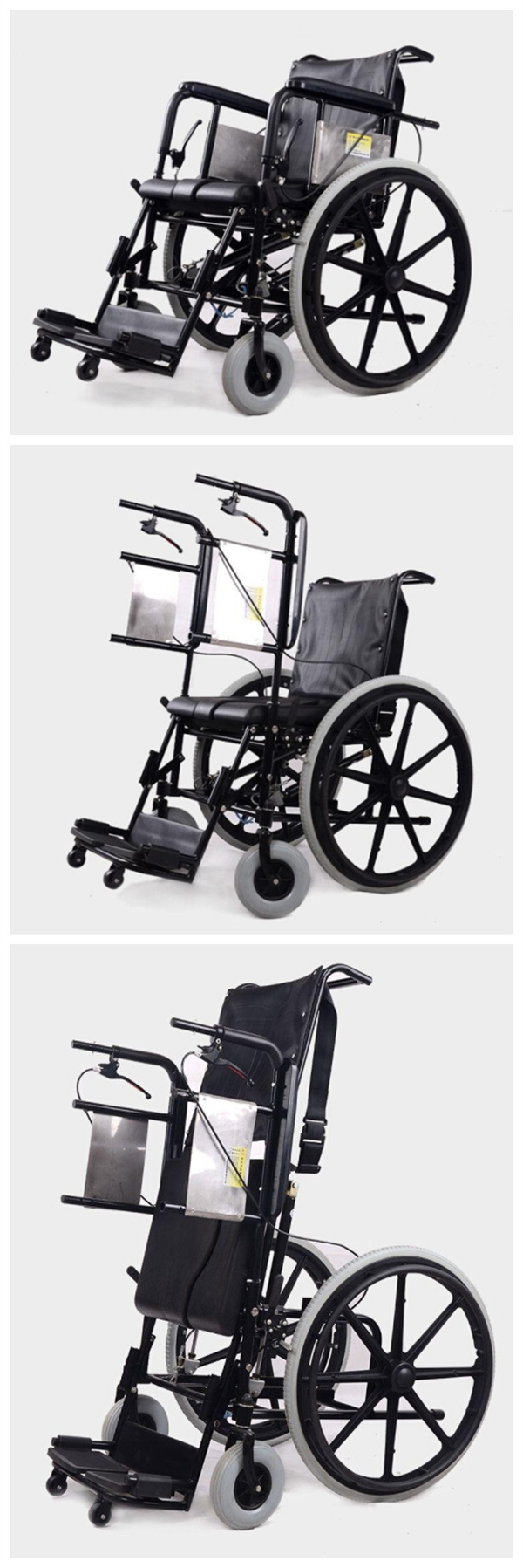 Medical Rehabilitation Wheelchir Manual Stand up Wheelchair for Paralysis Patient