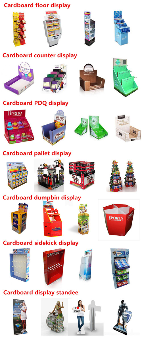 Cosmetic Cardboard Display, Pop Cardboard Display Stand