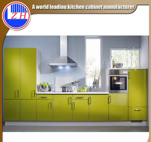 Glossy White Lacqure Kitchen Cabinets with Sink Faucet (min order one set)