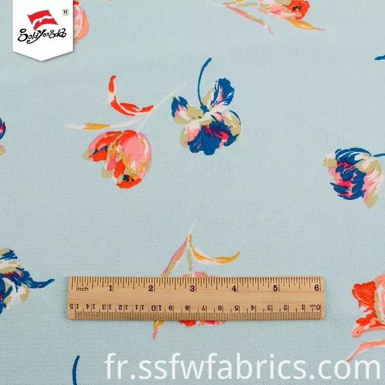 Fashion Beautiful Floral Printed Fabric