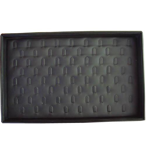 Black PU Covered Jewelry Ring Display Box Tray