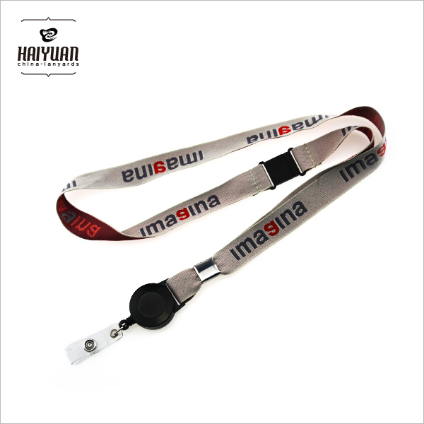 Woven Lanyard with Retractable Clip