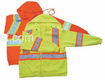 High Visibility Safety Warmer Hoodie with Polar Fleece for Winter