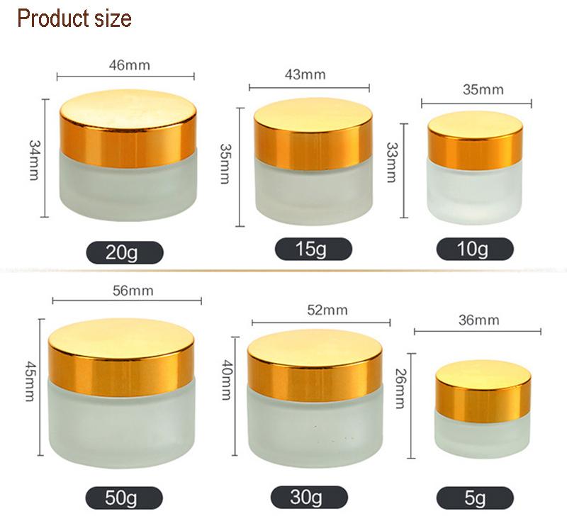 Cream Jar Cosmetic with Aluminum Lid (NBG19)