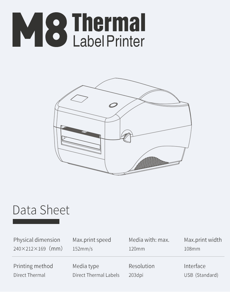 M8 shipping label printer 6
