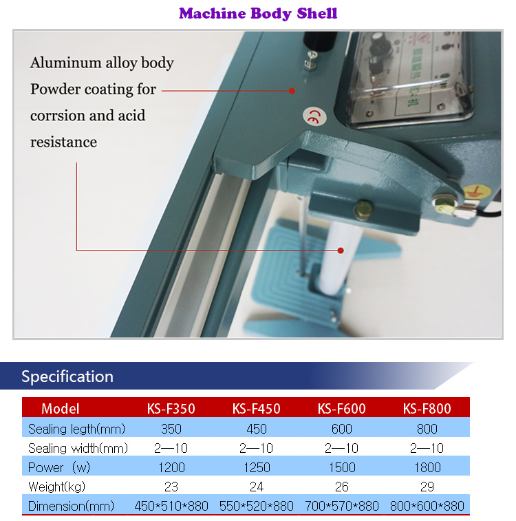 Cylinder Pneumatic Automatic Pedal Foot Sealing Machine with Electric Magnetic Manual Pedal Sealer with Temperature Controller and Time Adjustment