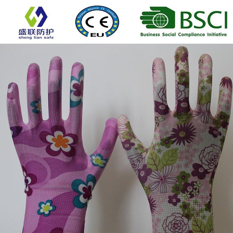 13G PU Coated Garden Work Glove (SL-G-PU2011)