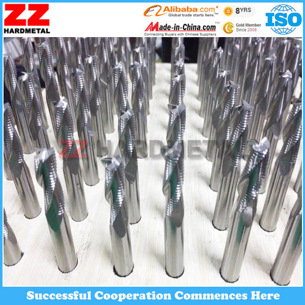 HRC 45/55/65 Solid Tungsten Carbide Ball Nose Square Head Corner Radius Endmill