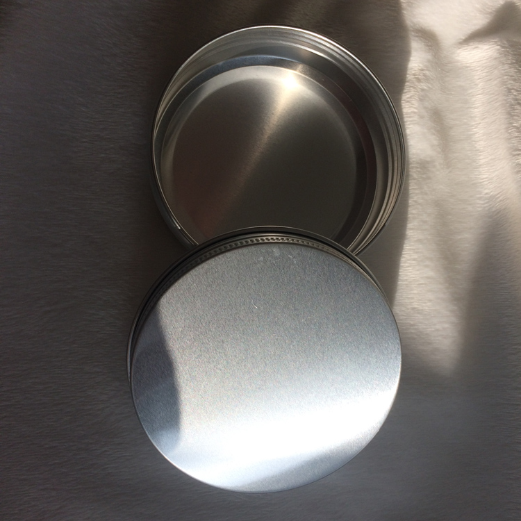 Silver Aluminum Tin with Screw Lid