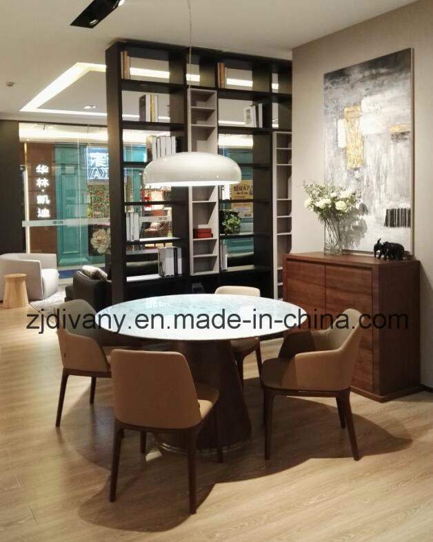 American Style Dining Room Furniture Marble Top Round Table (E-23)