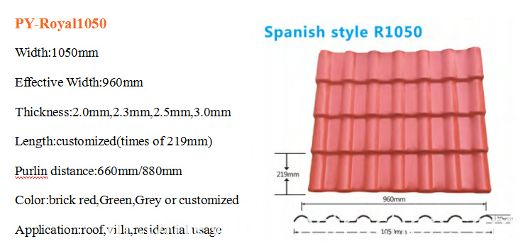 plastic spanish roof tiles