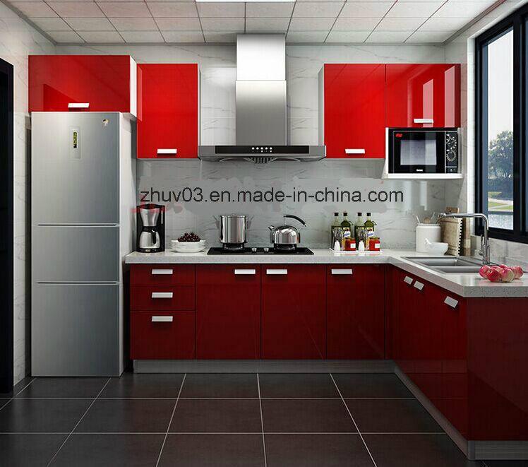 Glossy Wooden Acrylic Kitchen (ZH)