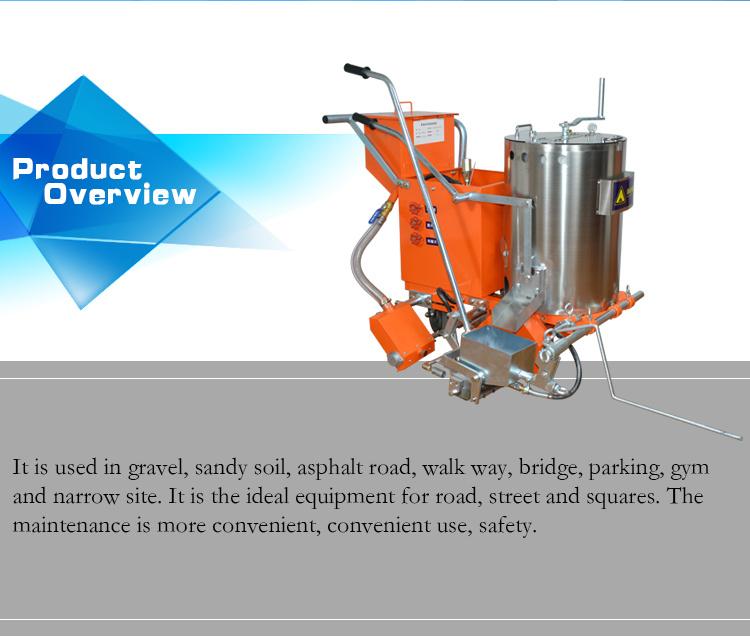 machine de marquage routier thermoplastique facile à utiliser