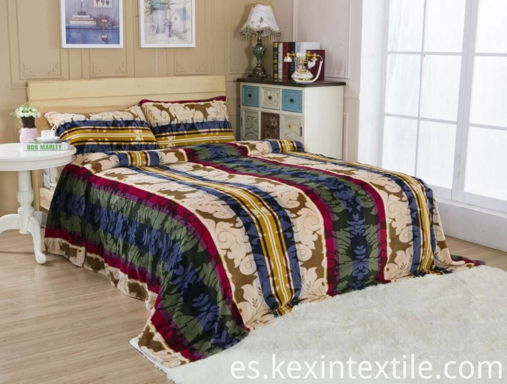 Animal fur design flannel blanket 3PCS set