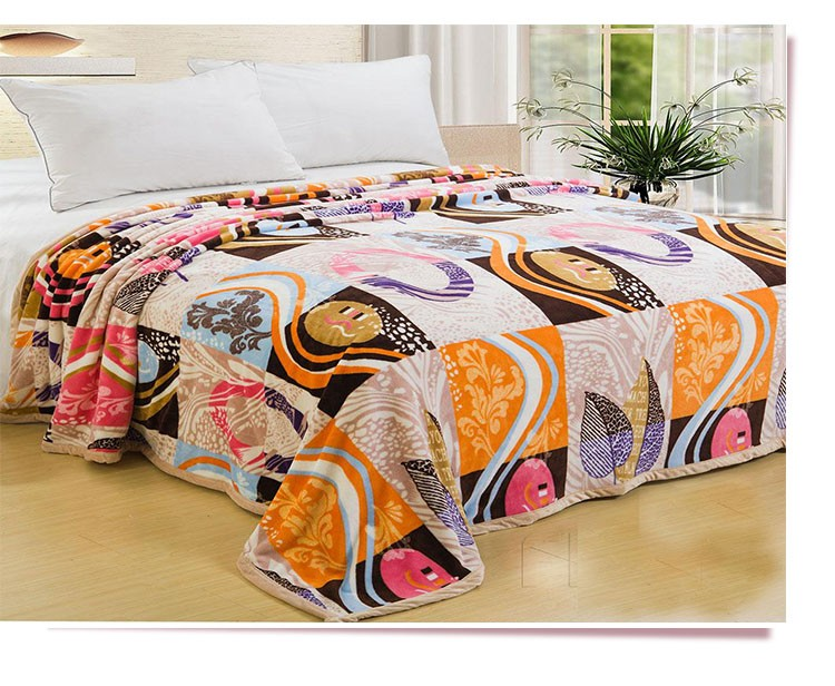 Geometric Figure Design Mocro Fiber Blanket