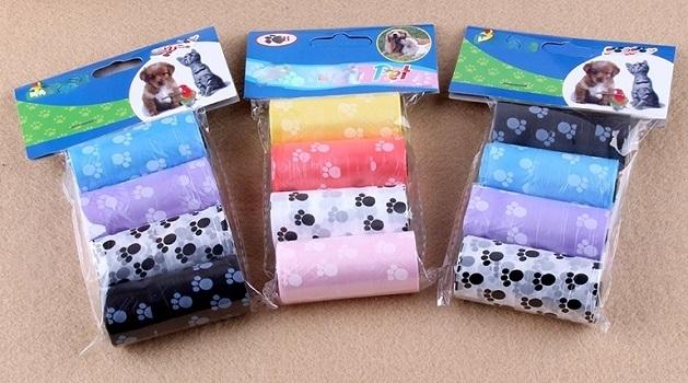 Pet Poop Bag Plastic Unscented Dog Waste Bag