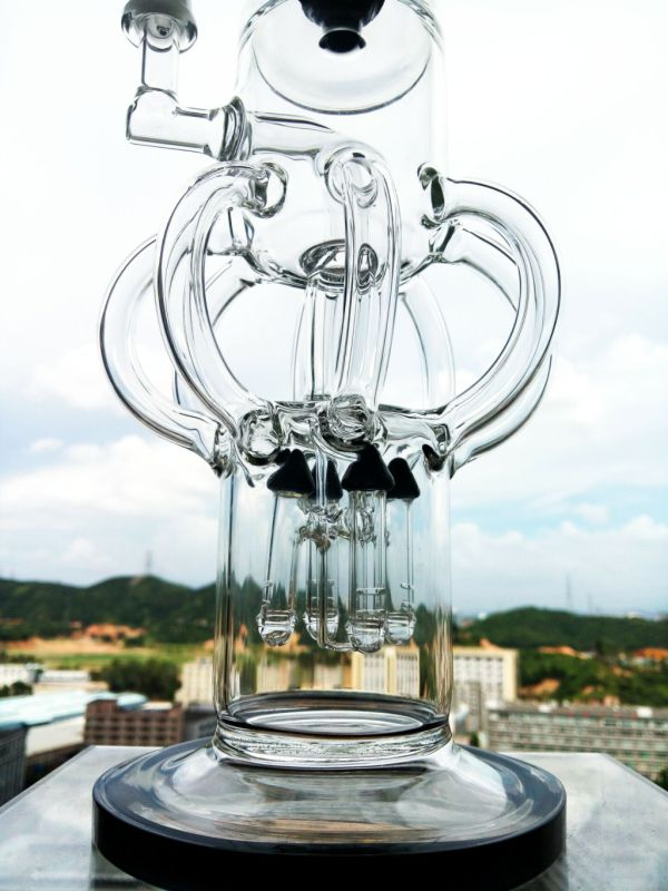 Top Selling Recycle Glass Water Pipe Enjoylife Stock Smoking Pipe Bend Recycle Smoking Pipe Oil Rigs Glass Bubbler Klein Glass Water Pipe