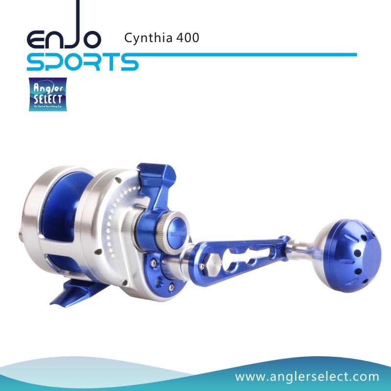 Angler Select Cynthia Sea Fishing Reel 8+1bb Super Smooth Aluminium Jigging Reel Fishing Jig Reel (Cynthia 400)