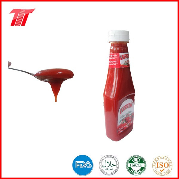 Tomato Ketchup in 340 G Plastic Bottle of Natural Color