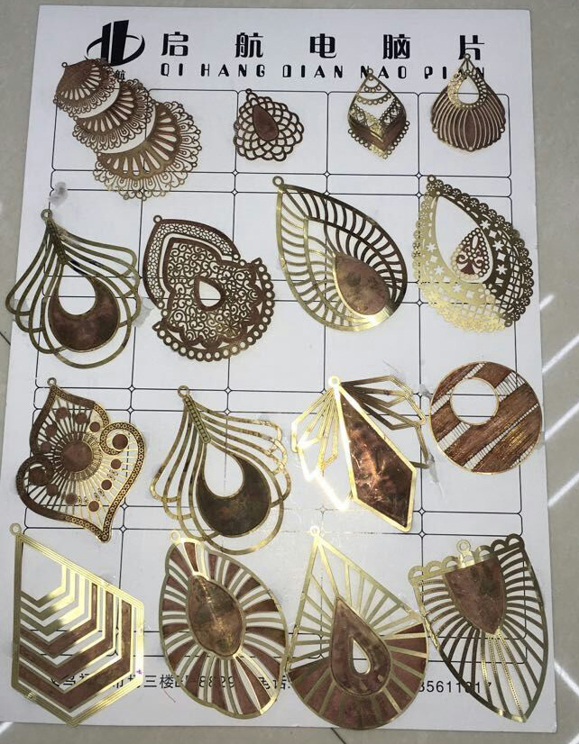 Hotselling Copper Slice Sheet for Earring Ornaments Bookmark & Holiday Gifts