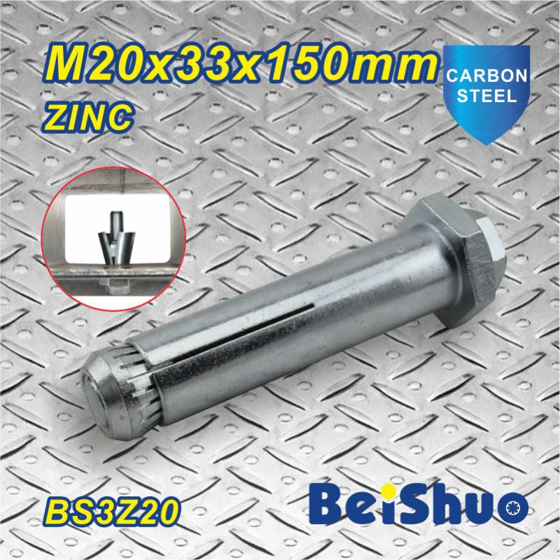 M20X33X150mm Grade 8.8 Zinc Coated Expansion Anchor Bolt