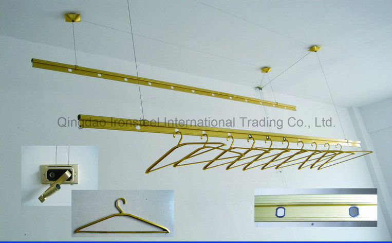 Manual Type Adjustable Cloth Drying Hanger with Super Bigger Hanging Rod