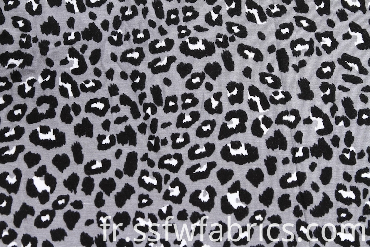 Special Leopard Viscose Fabric