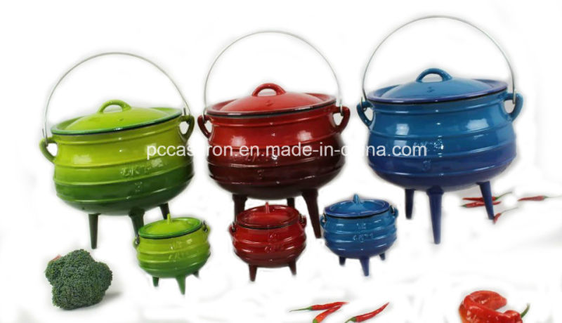 #20, #22, #25, #30 Cast Iron Potjie Pot for South Africa/Cauldron