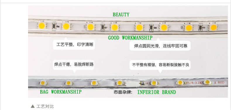 LED 2 Wires Flexible LED Neon Rope Light