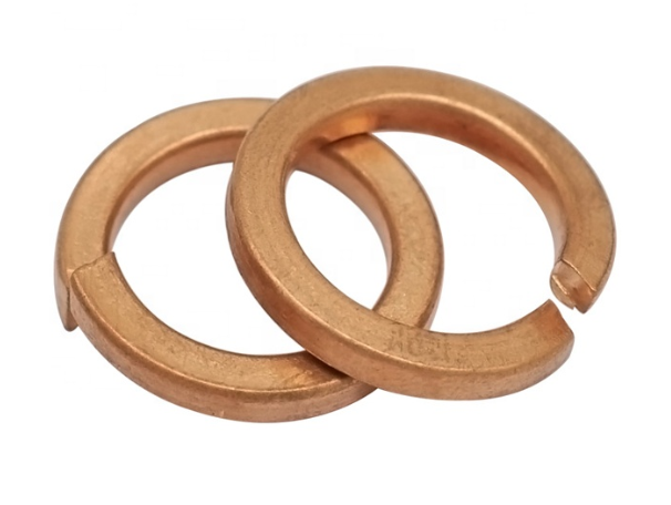 Brass Single Coil Spring Lock Washers
