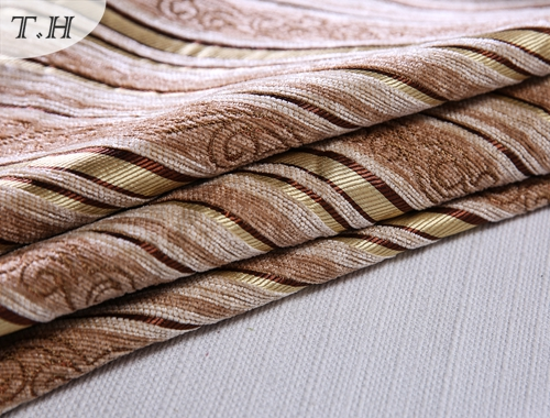 The Light Color Chenille Strip for Sofa and Chair Fabric
