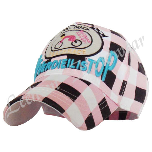 Fashion Dogs Kids Caps with Check Pattern